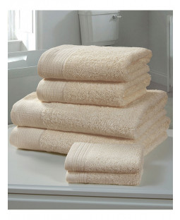 Chatsworth 4 Piece Towel Bale Biscuit - 2 Hand Towels, 2 Bath Towels