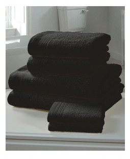 Chatsworth 4 Piece Towel Bale Black- 2 Hand Towels, 2 Bath Towels