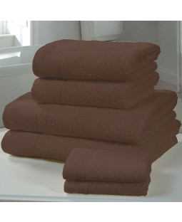 Chatsworth 4 Piece Towel Bale Chocolate- 2 Hand Towels, 2 Bath Towels