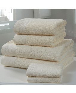Chatsworth 4 Piece Towel Bale Cream - 2 Hand Towels, 2 Bath Towels