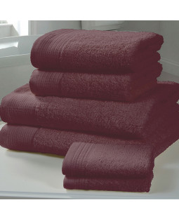 Chatsworth 4 Piece Towel Bale Damson - 2 Hand Towels, 2 Bath Towels