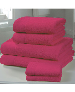 Chatsworth 4 Piece Towel Bale Fuschia- 2 Hand Towels, 2 Bath Towels