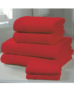 Chatsworth 4 Piece Towel Bale Red - 2 Hand Towels, 2 Bath Towels