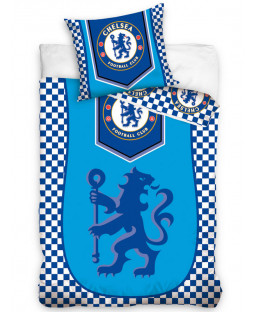 Chelsea FC Crest Single Cotton Duvet Cover Set
