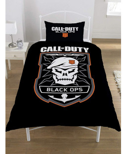 Call Of Duty Black Ops Emblem Single Duvet Cover and Pillowcase Set