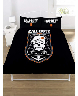 Call Of Duty Black Ops Emblem Double Duvet Cover  and Pillowcase Set