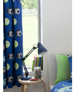 Catherine Lansfield Lined Football Curtains - Blue