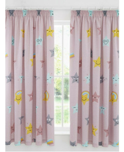 Hello Star Pink Curtains