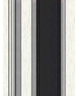 Synergy Stripe Wallpaper Ebony Black Vymura M0785