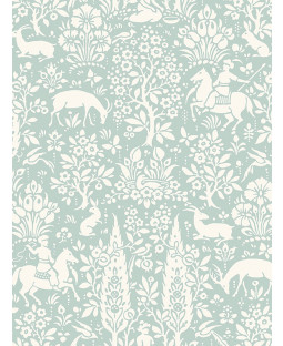 Duck Egg Woodland Wallpaper Crown Archives M1166