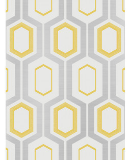 Mortimer Geometric Wallpaper Yellow Coloroll M1025