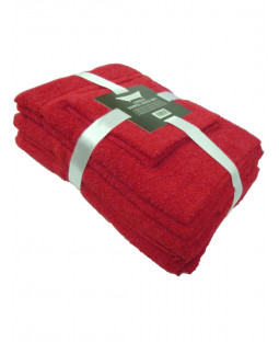 Dark Red 6 Piece Cotton Bath Towel Bale Set
