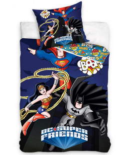 DC Super Friends Superheroes Single Cotton Duvet Cover Set