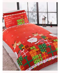 Dear Santa 4 In 1 Christmas Junior Bedding Bundle (edredón, almohada y fundas)