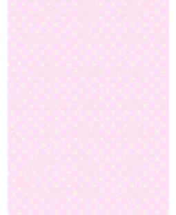 Polka Dot Wallpaper - Pink and White - 6321
