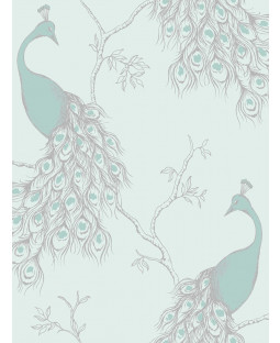 Empress Peacock Wallpaper  -  FD40713 Duck Egg and Teal