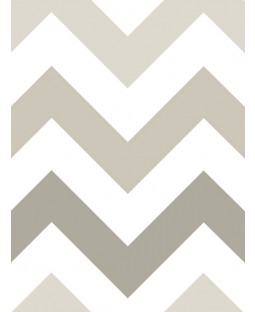 NuWallpaper Zig Zag Peel And Stick Wallpaper - Taupe NU1416