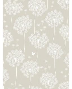 NuWallpaper Dandelion Peel And Stick Wallpaper - Taupe NU1651