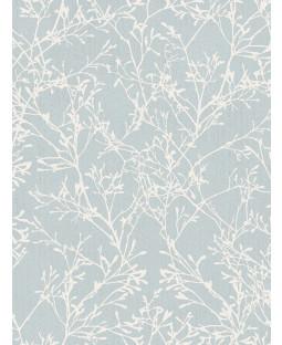 Fine Decor Tranquillity Tree Wallpaper - Duck Egg / Silver FD41713