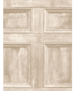 Distinctive Wood Panel Wallpaper - Cream - Fine Decor FD31054