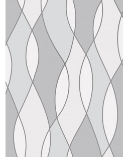 Apex Wave Geometric Wallpaper Grey Fine Decor FD42174