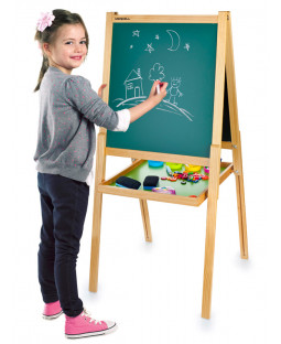 Deluxe Double Sided Black and White Board Easel with Accessories
