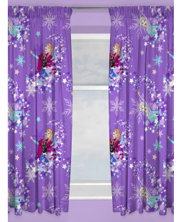 "Disney Frozen Snowflake Curtains 54"" Drop"