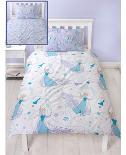 Disney Frozen Icicle Single Duvet Cover and Pillowcase Set