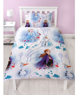 Disney Frozen 2 Element Single Duvet Cover and Pillowcase Set