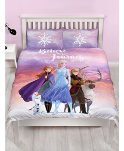 Disney Frozen 2 Journey Reversible Double Duvet Cover Set