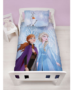 Disney Frozen Element 4 in 1 Junior Bedding Bundle Set (Duvet, Pillow and Covers)