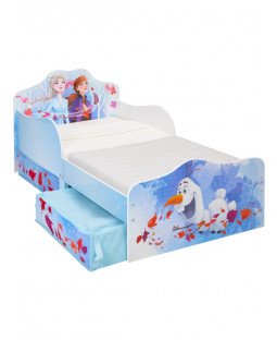 Frozen 2 Toddler Bed with Storage Plus Deluxe Foam Mattress
