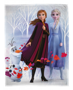 Disney Frozen 2 Leaves Fleece Blanket