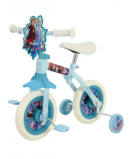 Disney Frozen 2 Ten Inch 2 in 1 Training Bike