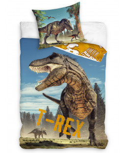 T-Rex Dinosaur Single Cotton Duvet Cover Set