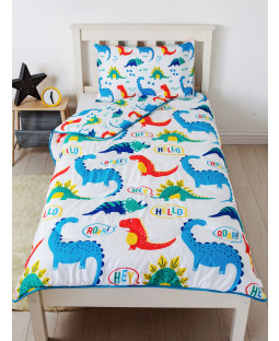 Dinosaurs Coverless Single 4.5 Tog Trapunta e Federa Set