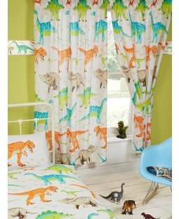 Dinosaur World Lined Curtains