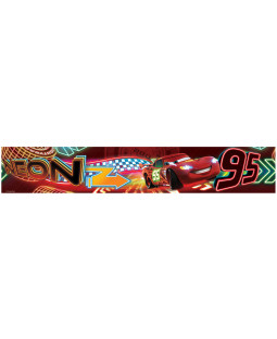 Disney Cars Neon Self Adhesive Wallpaper Border 5m