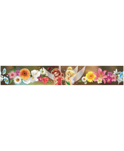 Disney Fairies Flowers Self Adhesive Wallpaper Border 5m