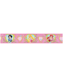 Disney Princess Hearts and Flowers Self Adhesive Wallpaper Border 5m
