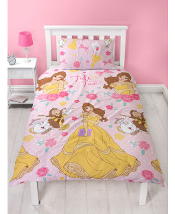 Disney Princess Belle Royal Single Reversible Duvet Cover Set