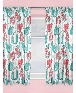 "Disney Princess Ariel Little Mermaid Curtains 54"" Drop"