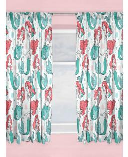 "Disney Princess Ariel Little Mermaid Curtains 72"" Drop"