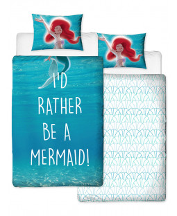 Disney Princess Ariel Little Mermaid Shellfie Single Duvet Cover Set