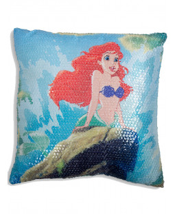 Ariel Little Mermaid Sequin Cushion Disney Princess