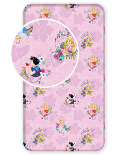 Disney Princess Single Fitted Cotton Bed Sheet