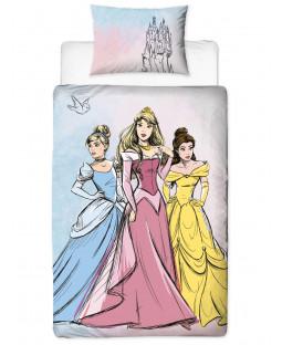 Disney Princess Pastels Single Duvet Cover Set