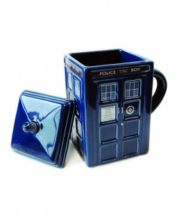 Dr Who 3D Moulded Tardis Mug with Lid