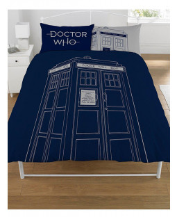 Doctor Who Classic Tardis Double Duvet Cover and Pillowcase Set
