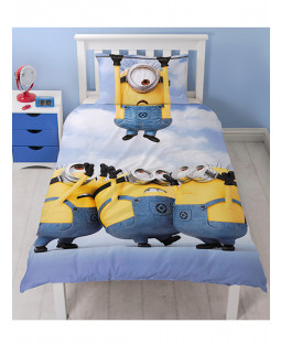 Despicable Me Minions Single Panel Duvet Cover and Pillowcase Set